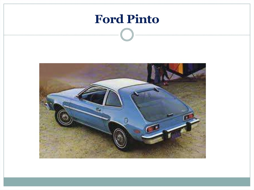 the ford pinto ethics The case of the ford pinto in the early 1970's when competition from japan's auto makers was heating up, gas prics were easing, the demands for energy conservation.