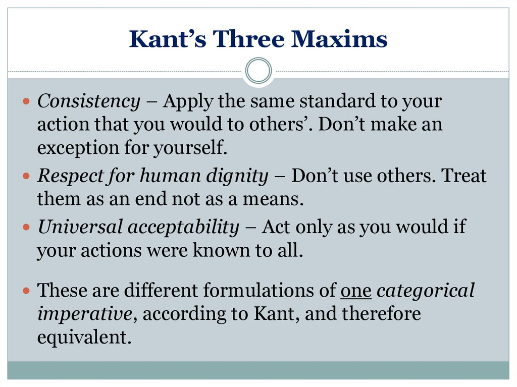 kant thoughts human dignity