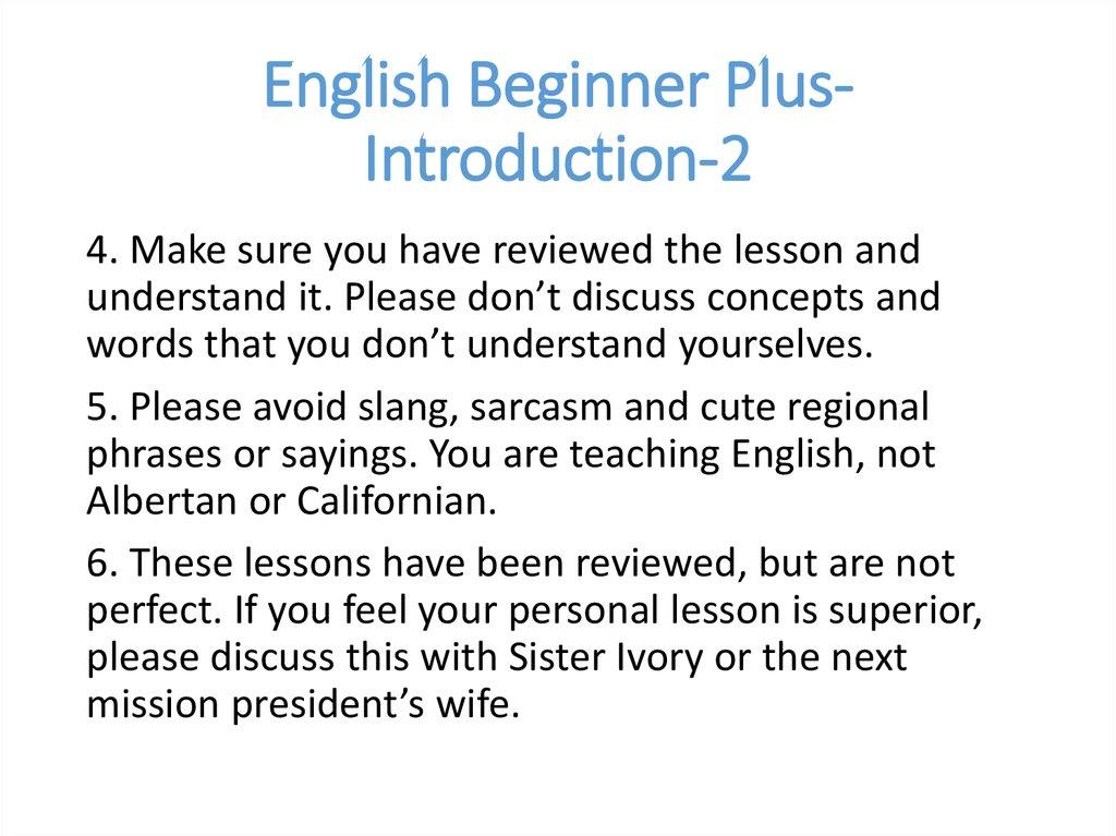 english beginner