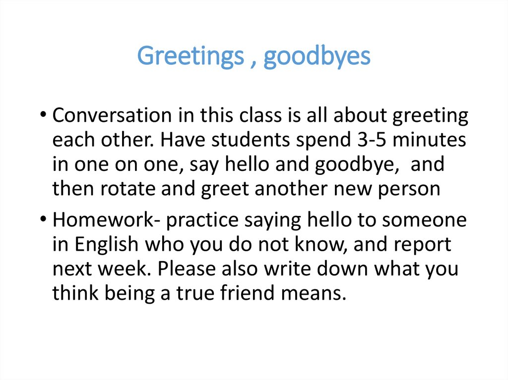 English beginner plus online presentation 92 greetings goodbyes m4hsunfo