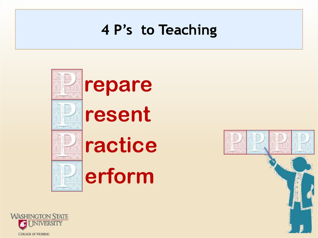4 P's to Teaching