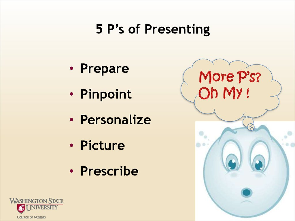 5 P's of Presenting