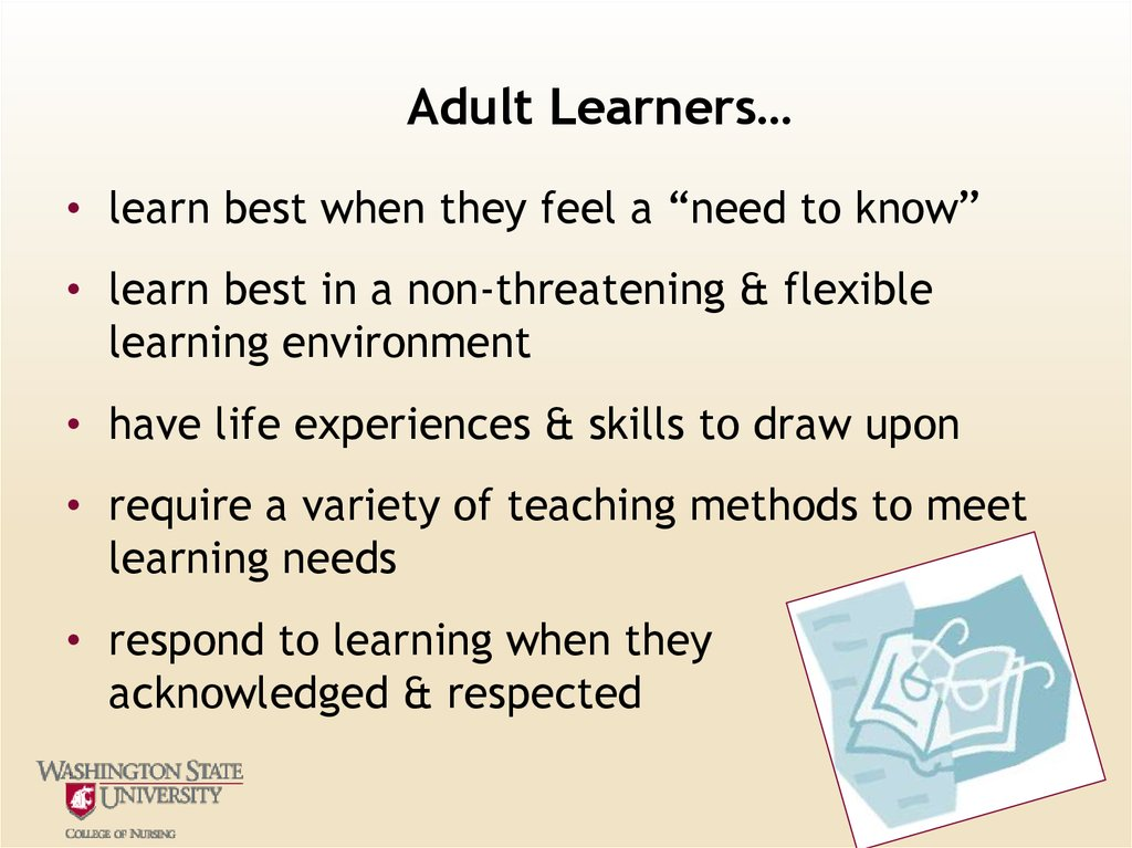 Adult Learners…