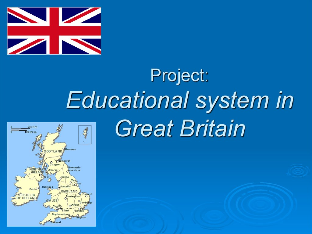 Project: Educational system in Great Britain