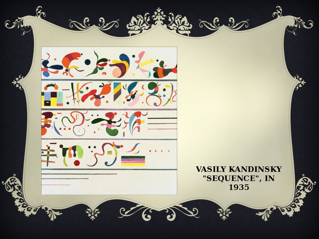 "Vasily Kandinsky ""sequence"", in 1935"