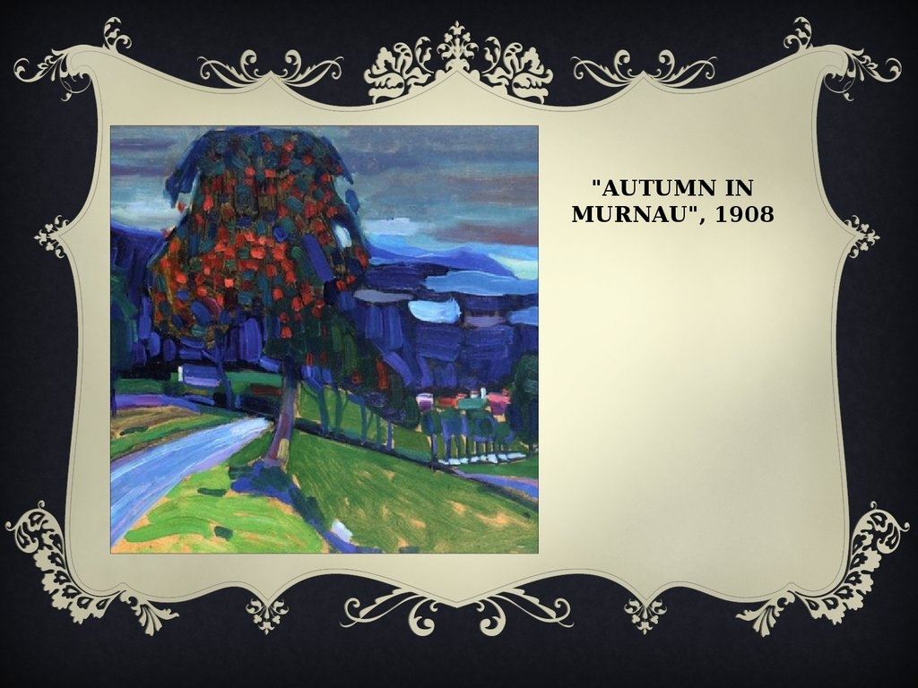 """Autumn in Murnau"", 1908"