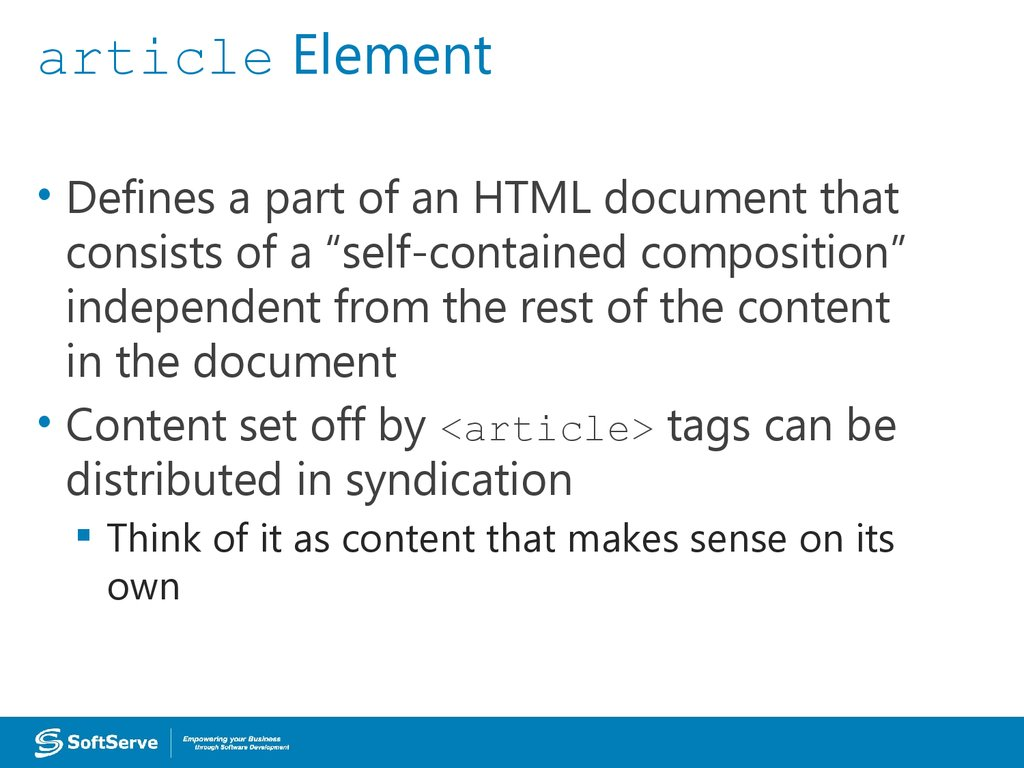 article Element