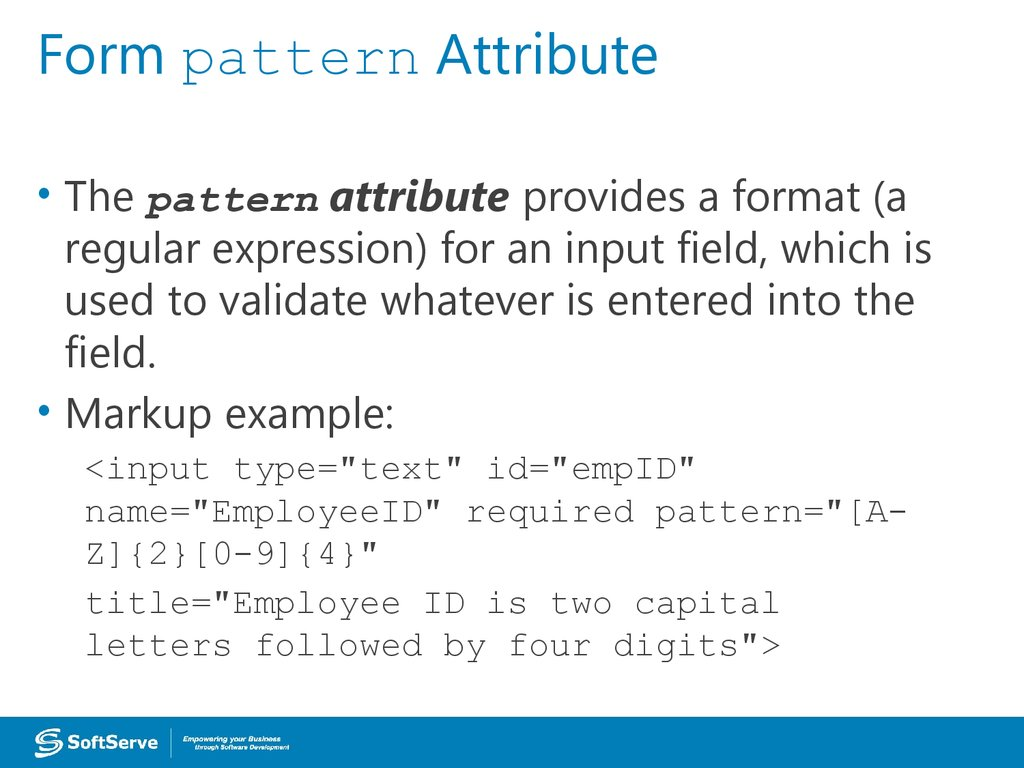Form pattern Attribute