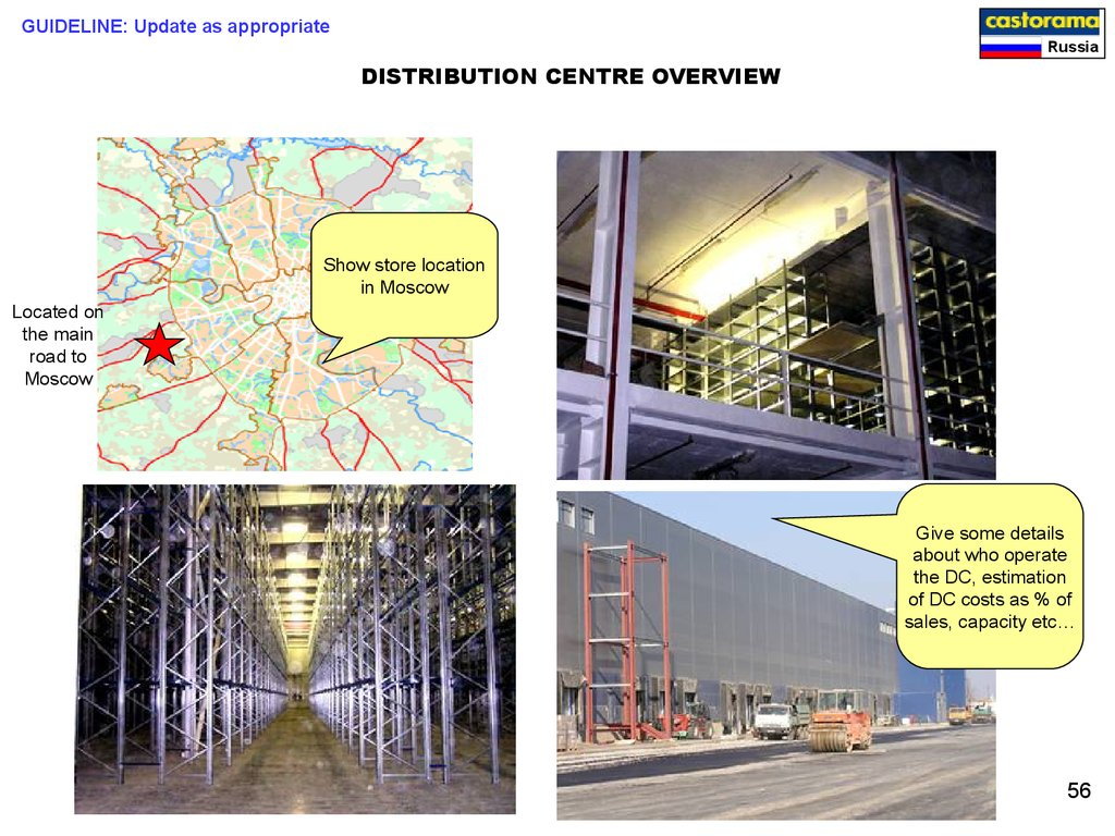 DISTRIBUTION CENTRE OVERVIEW