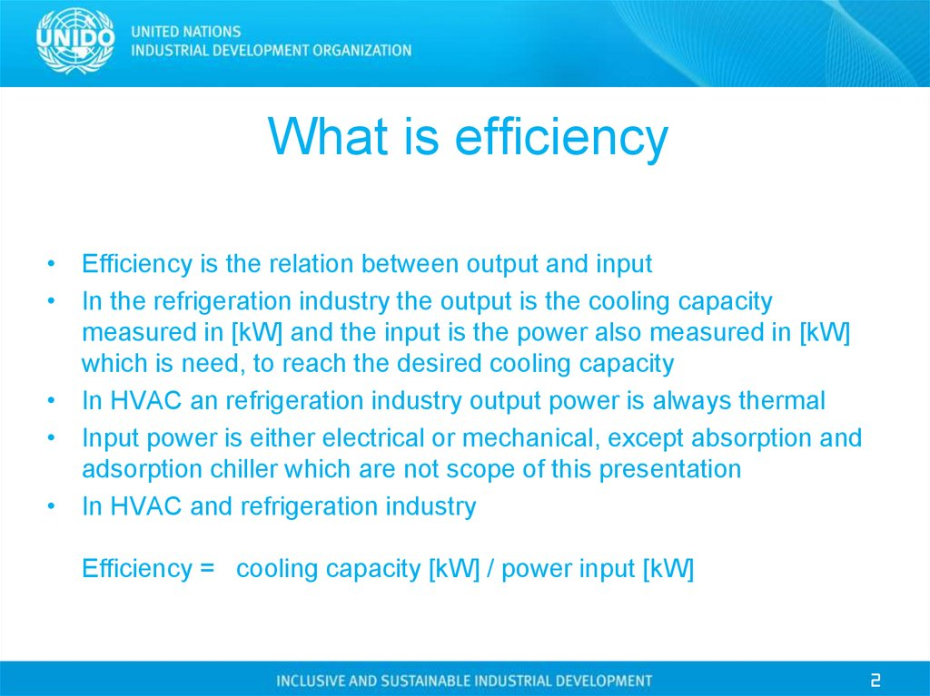 What Is Efficiency >> Refrigerant Systems And Their Energy Performance Online Presentation
