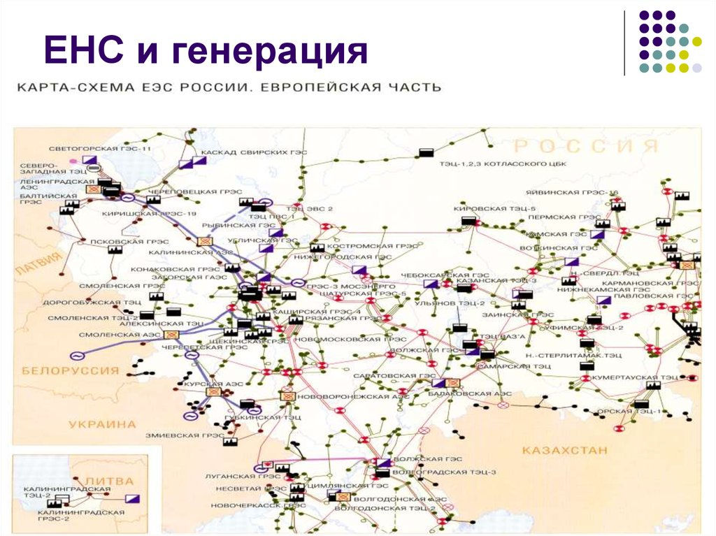 Энергетическая система россии схема