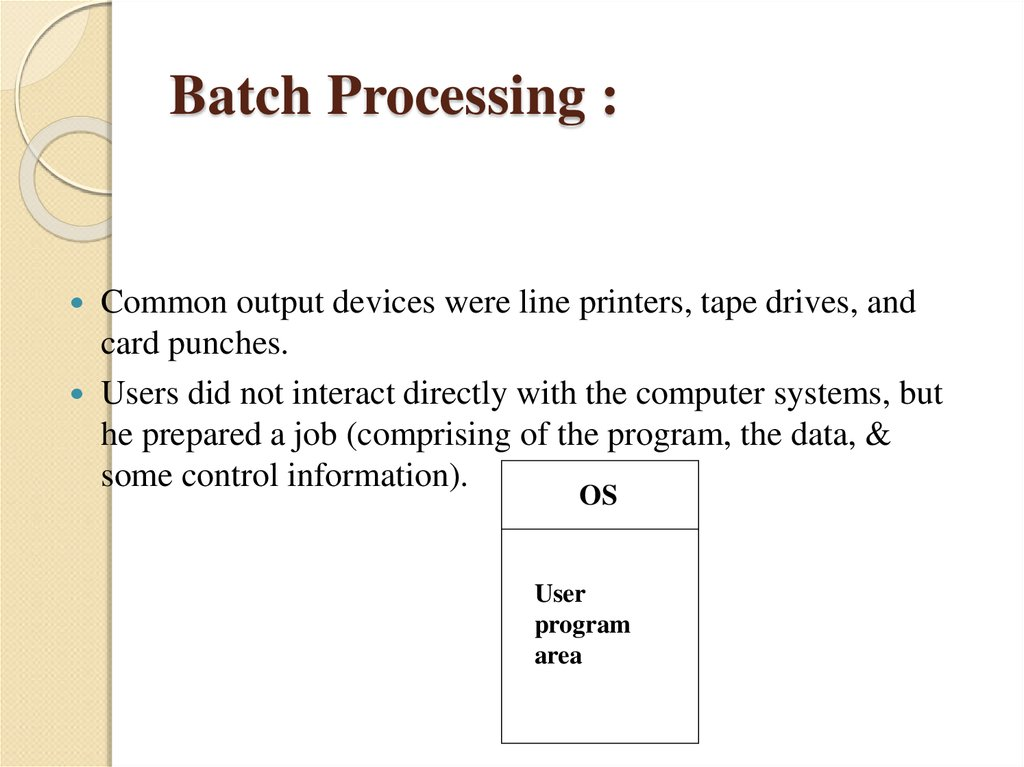 Batch Processing :