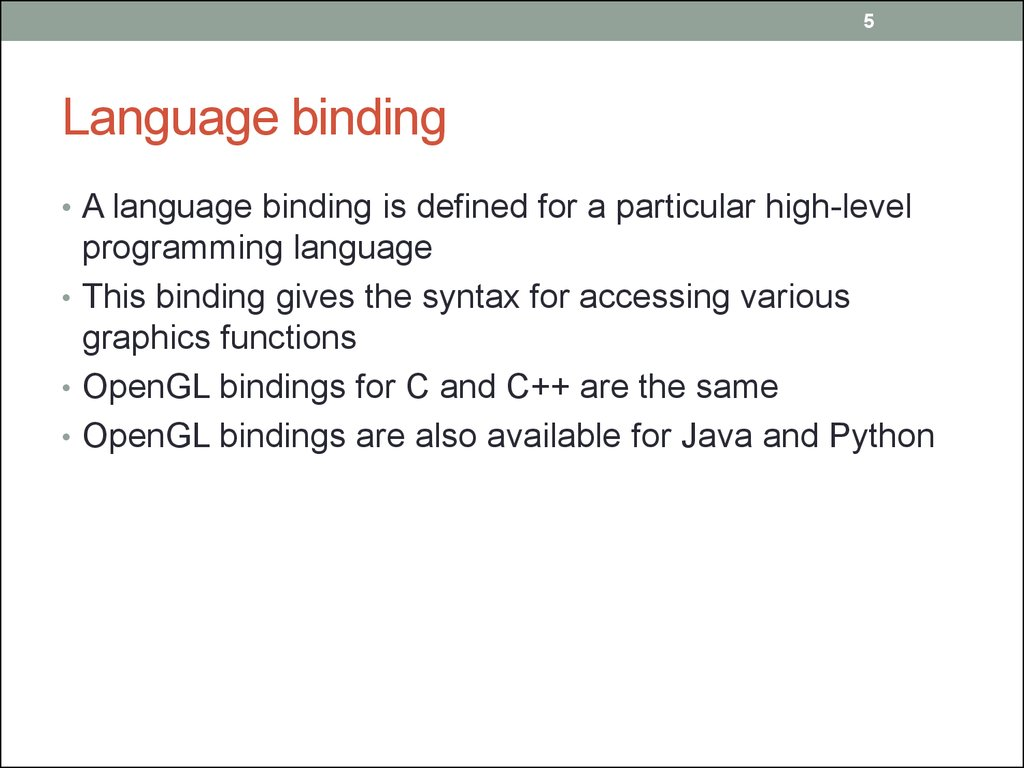Language binding