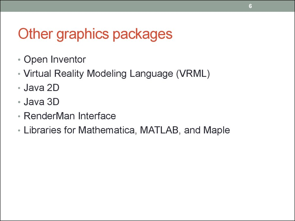 Other graphics packages