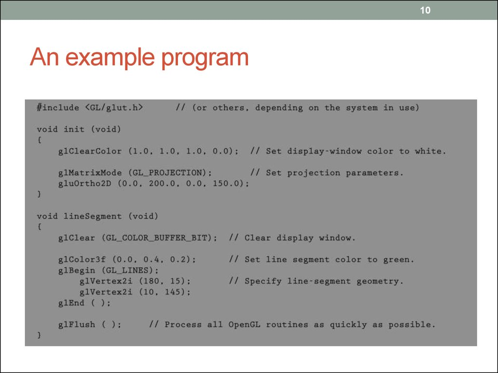 An example program