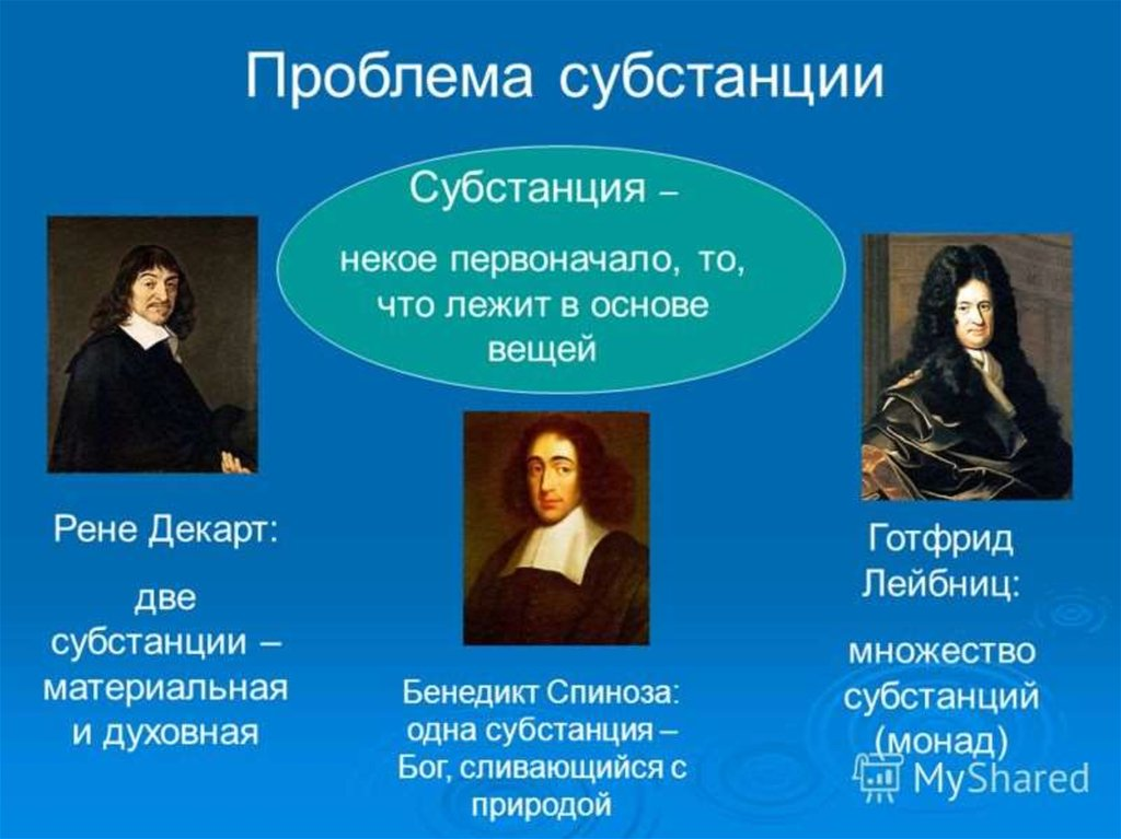 descartes vs spinoza on substance essay I feel, therefore i am  spinoza took on descartes  he argued that body and mind are not two separate entities but one continuous substance as for descartes.