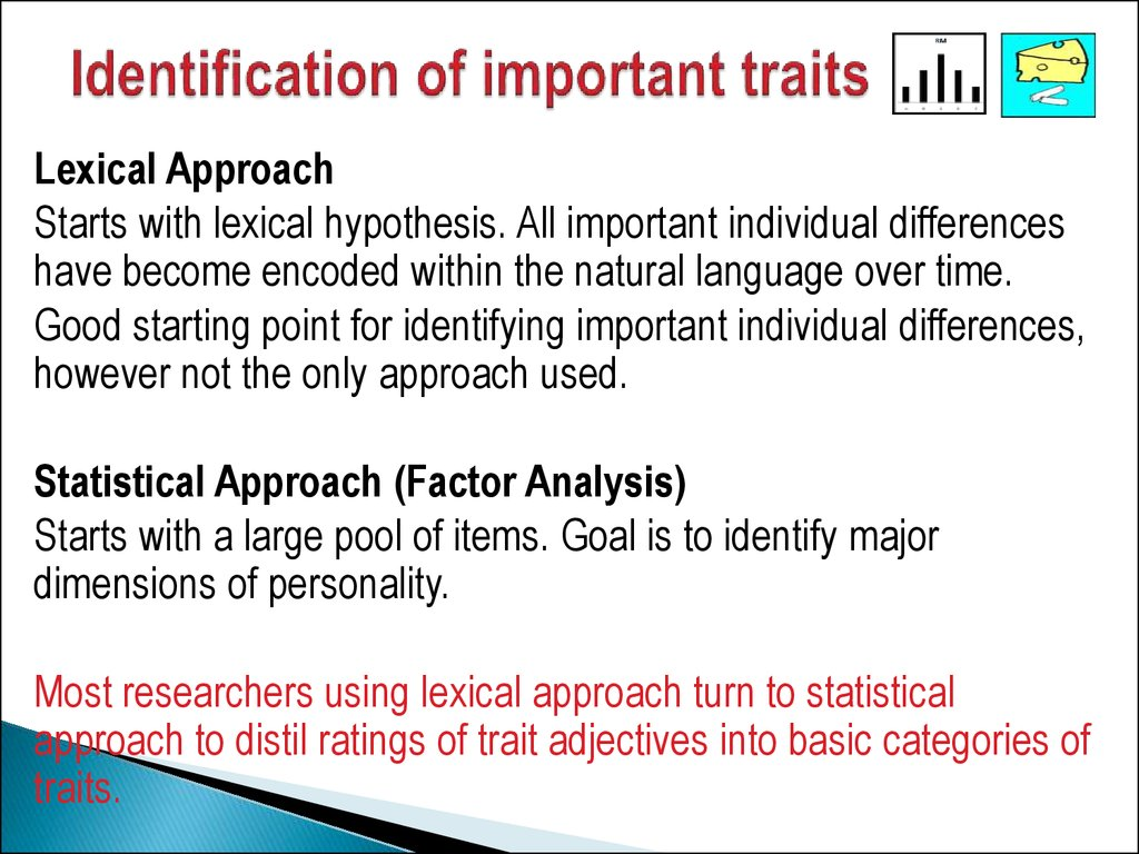 Identification of important traits