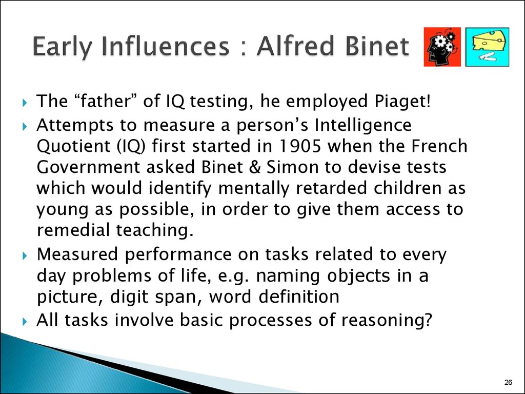 Early Influences : Alfred Binet