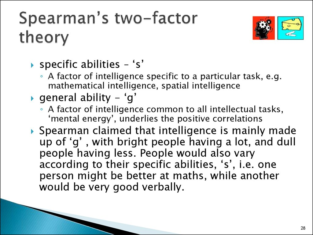 Spearman's two-factor theory