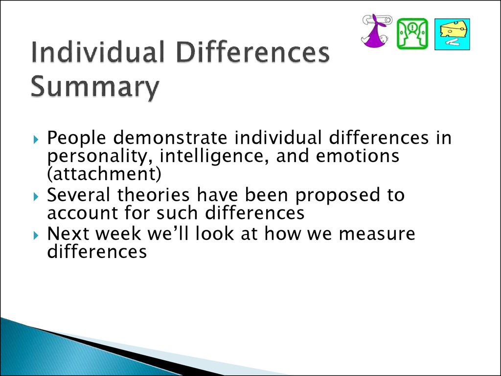 Individual Differences Summary
