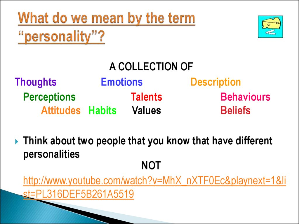 "What do we mean by the term ""personality""?"