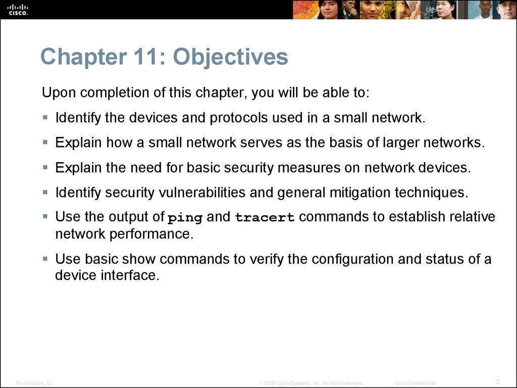 Chapter 11: Objectives