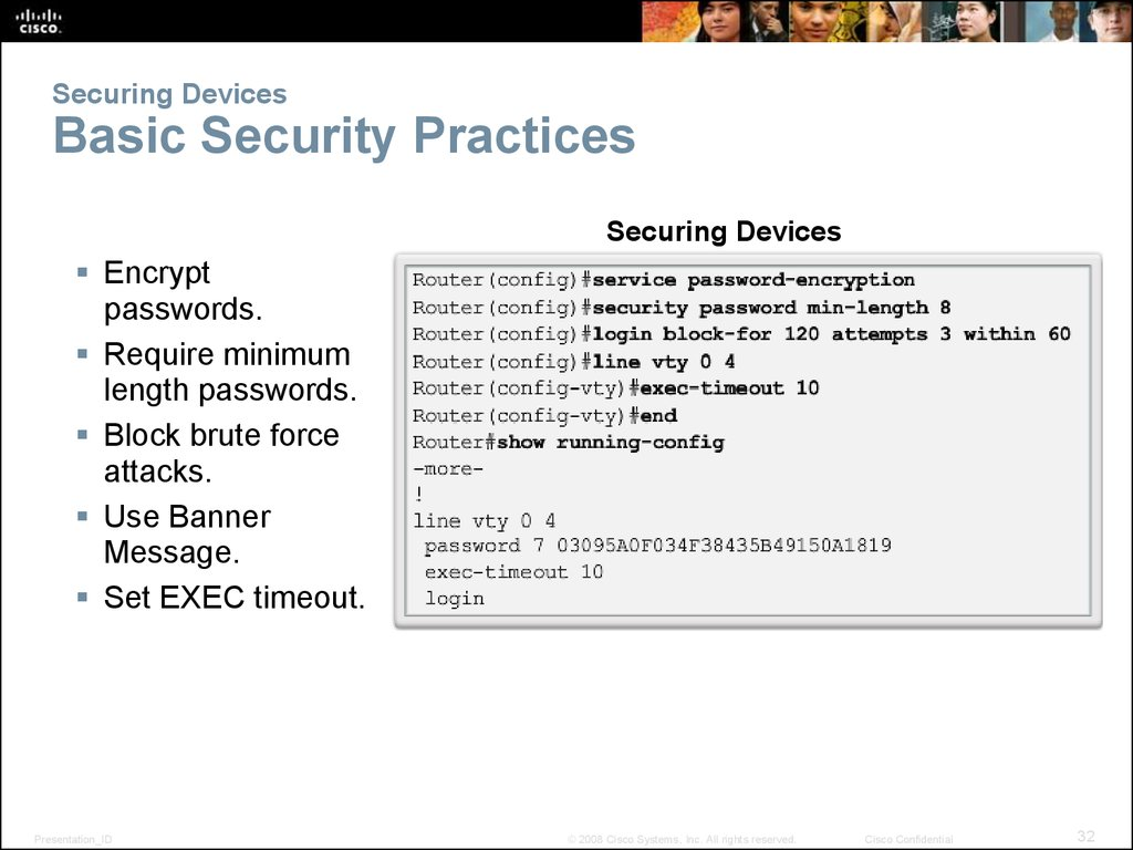 Securing Devices Basic Security Practices