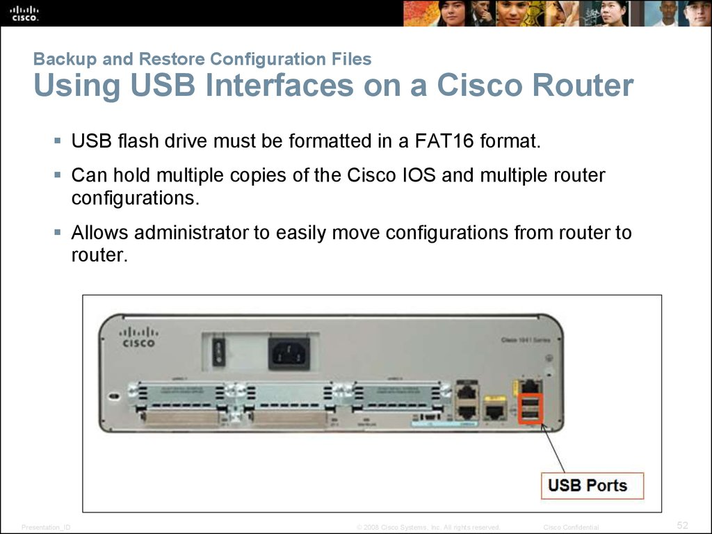 Backup and Restore Configuration Files Using USB Interfaces on a Cisco Router