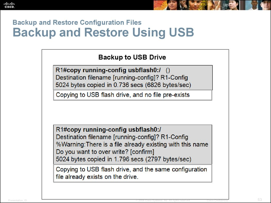 Backup and Restore Configuration Files Backup and Restore Using USB