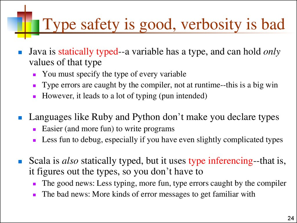Type safety is good, verbosity is bad