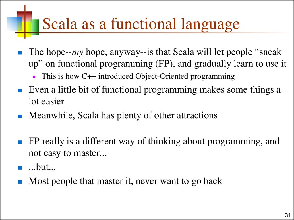Scala as a functional language