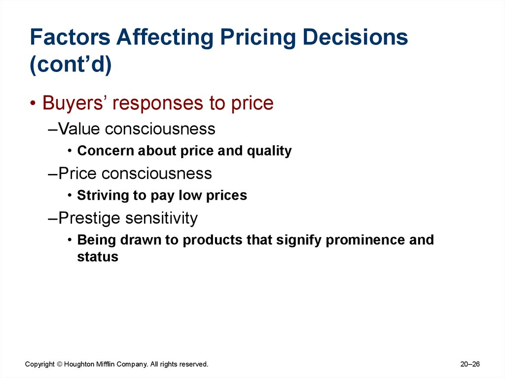notes on pricing decisions Marketing mix price price the amount of money charged for a product or service or this document contains all notes about pricing and pricing brand decisions.