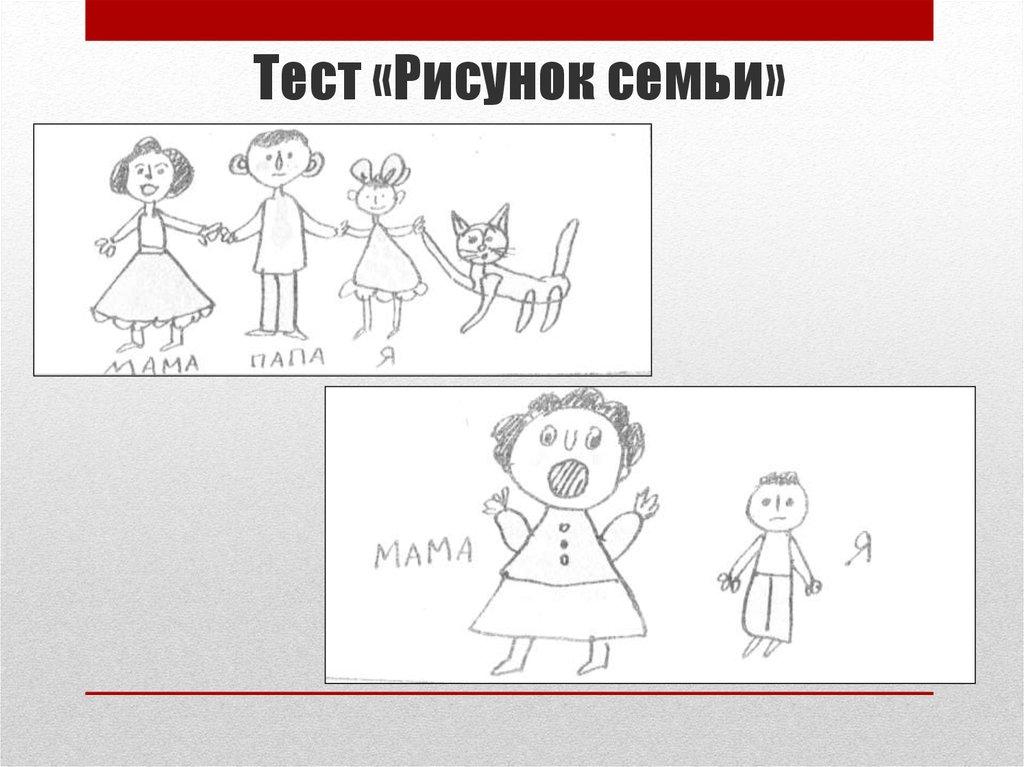 Картинки к тесту моя семья