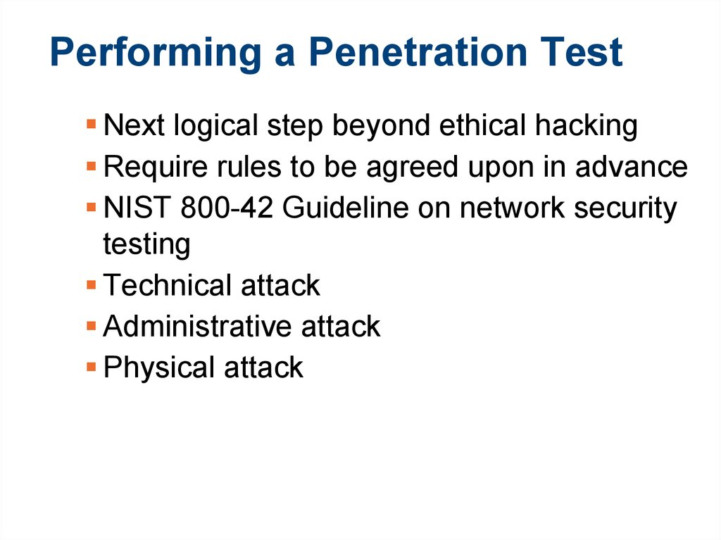 Performing a Penetration Test