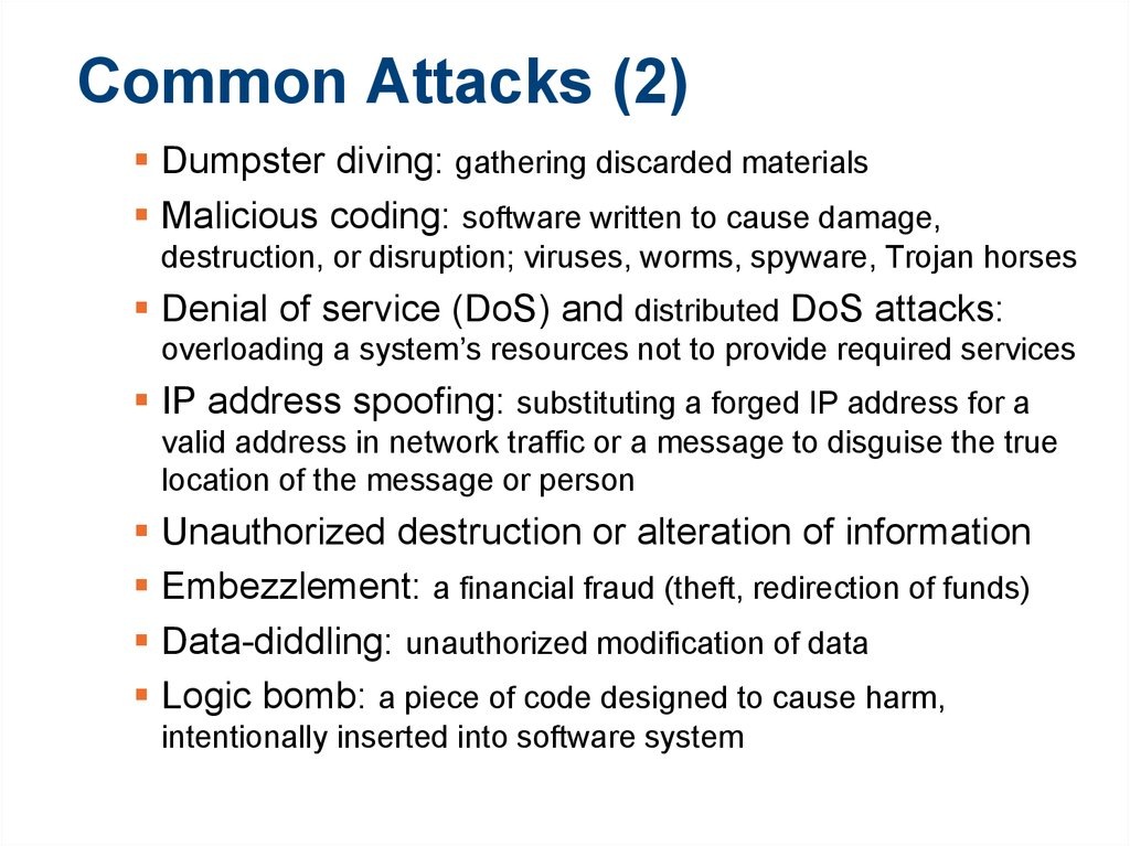 Common Attacks (2)