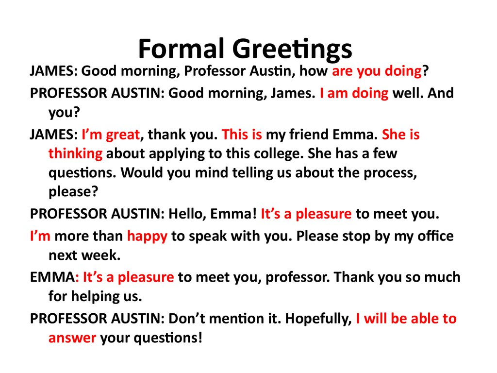 English 1 common english online presentation formal greetings m4hsunfo