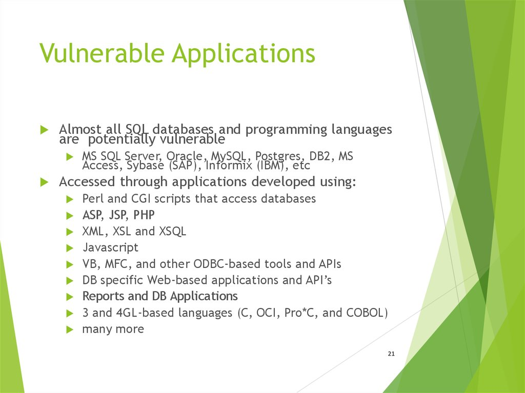 Vulnerable Applications
