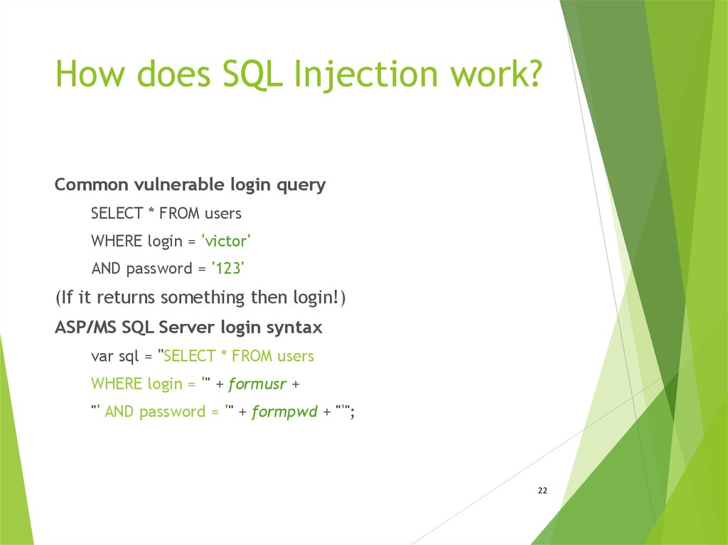 How does SQL Injection work?