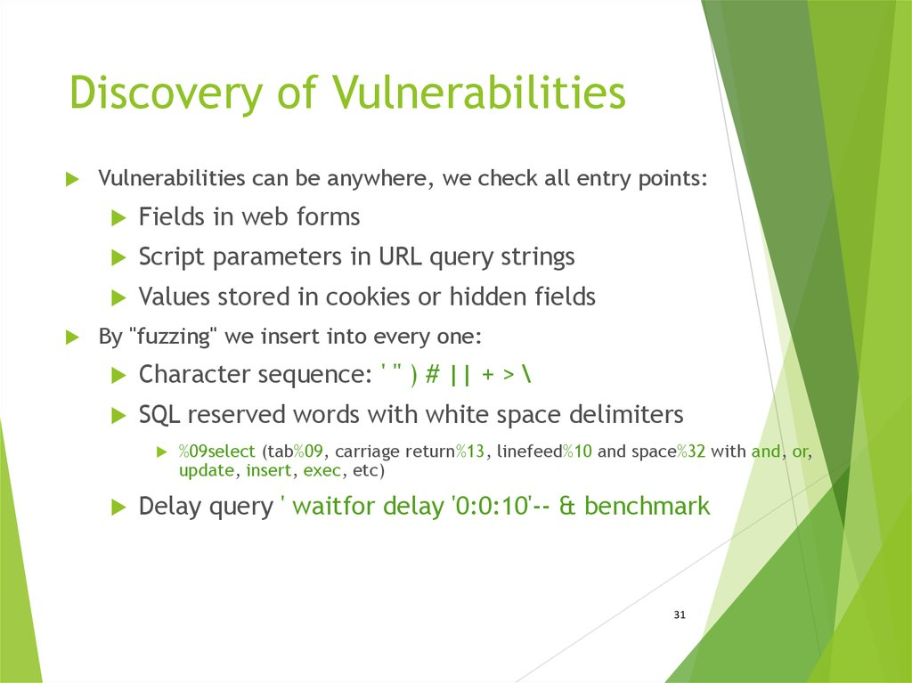 Discovery of Vulnerabilities