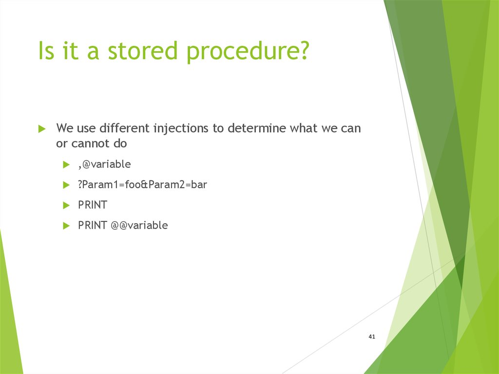 Is it a stored procedure?