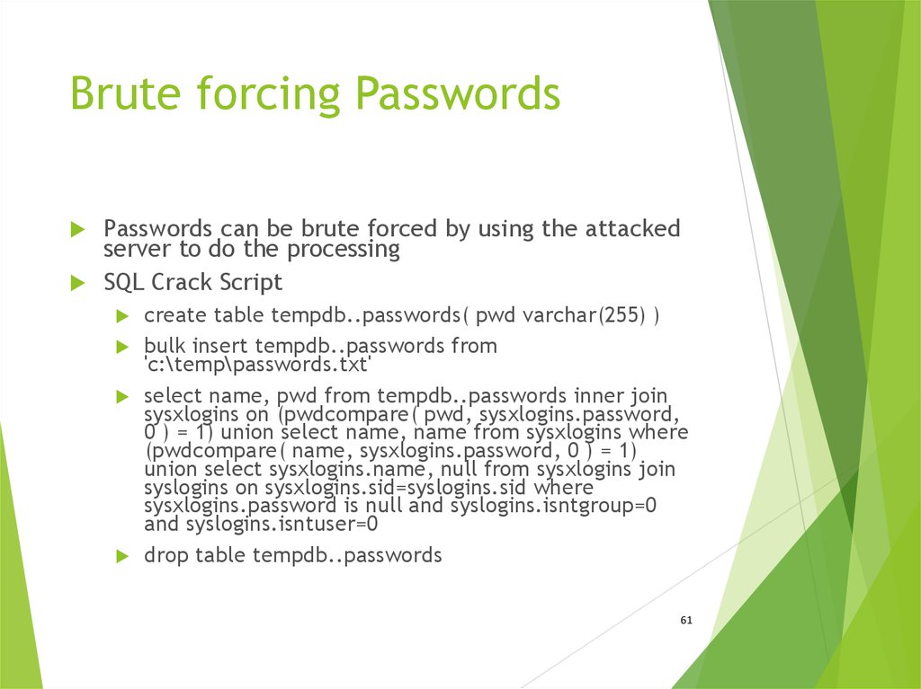 Brute forcing Passwords