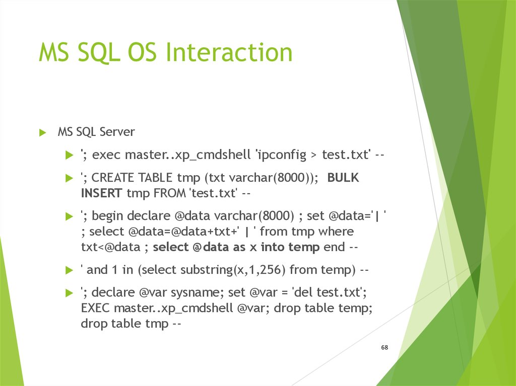 MS SQL OS Interaction