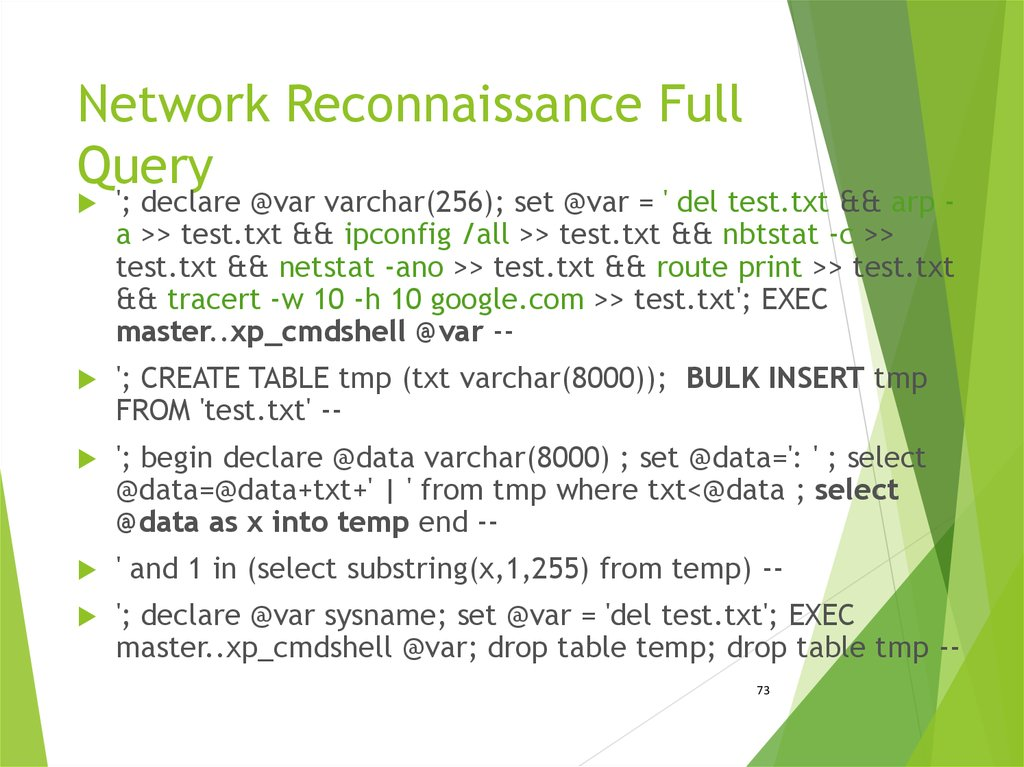 Network Reconnaissance Full Query