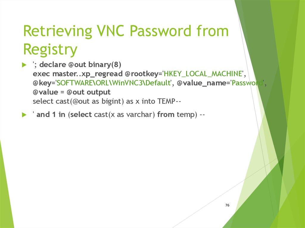 Retrieving VNC Password from Registry