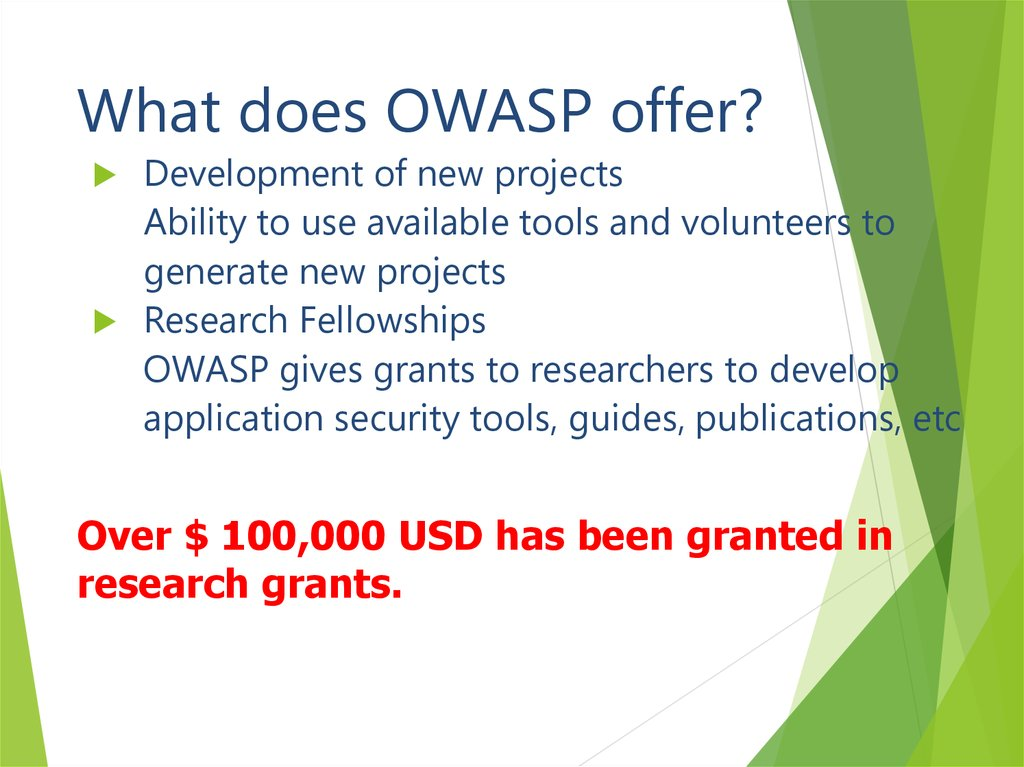What does OWASP offer?