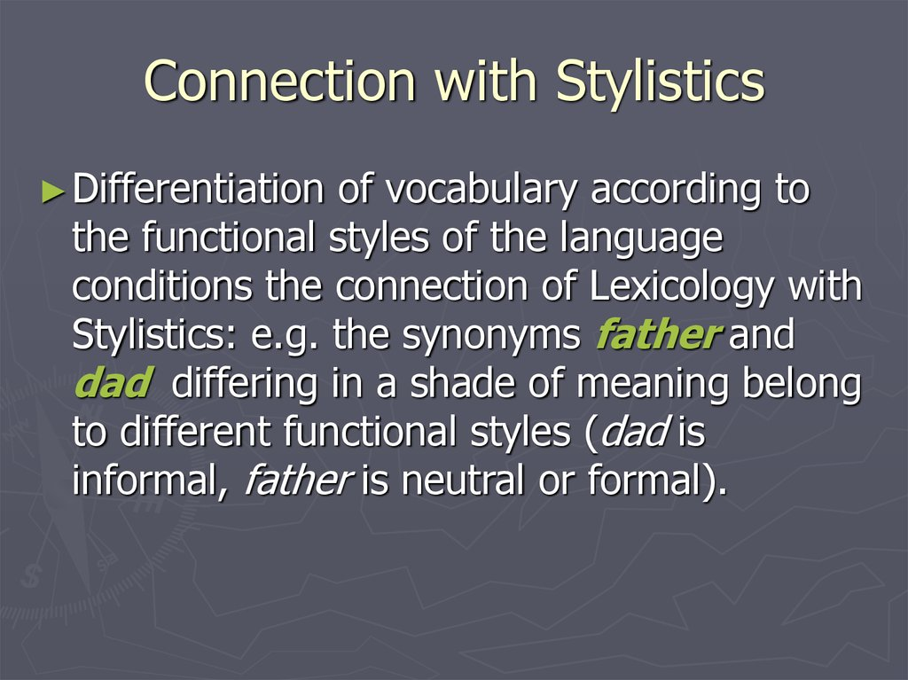 Connection with Stylistics