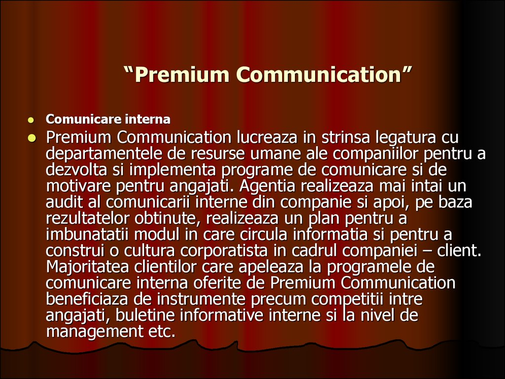 """Premium Communication"""