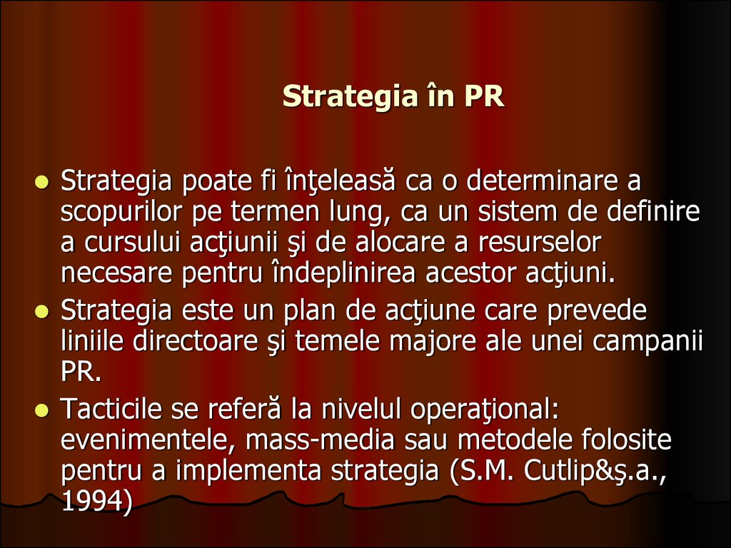 Strategia în PR