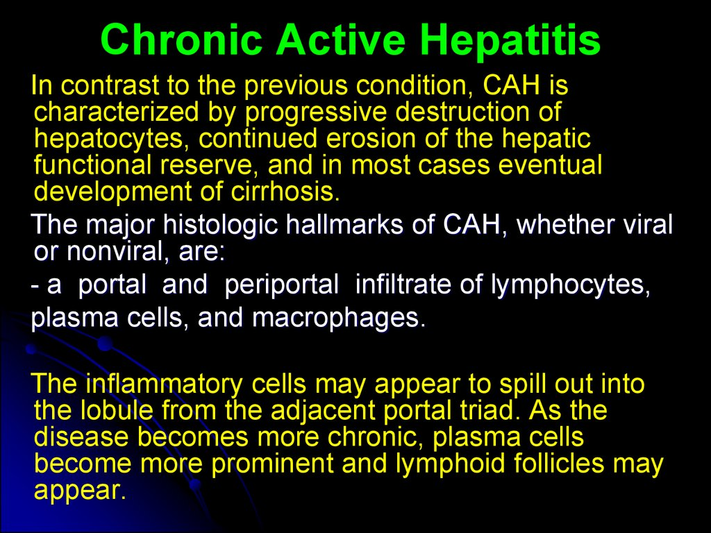 Chronic Active Hepatitis