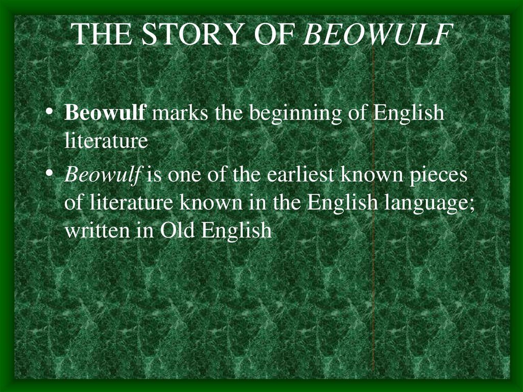 a review of the story of beowulf Long before game of thrones, beowulf was the lusty fantasy saga to rule them all the old english poem is one of the most revered in western literature - but it's also a rollicking adventure.